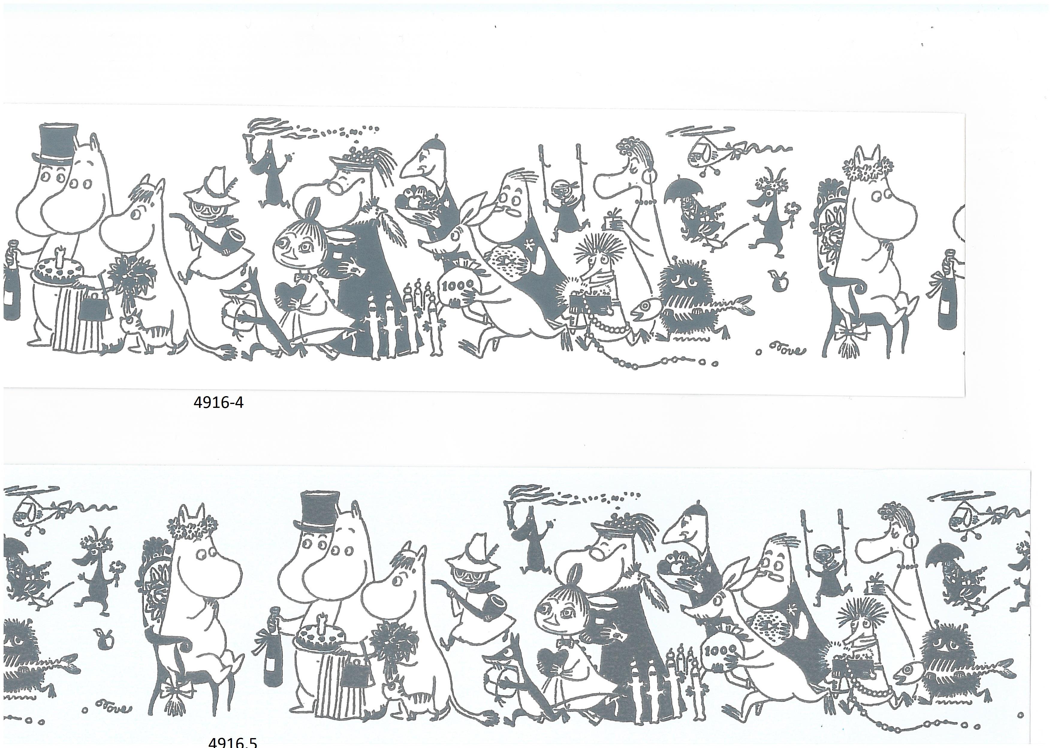 Moomin borders 4916-4 , 4916-5