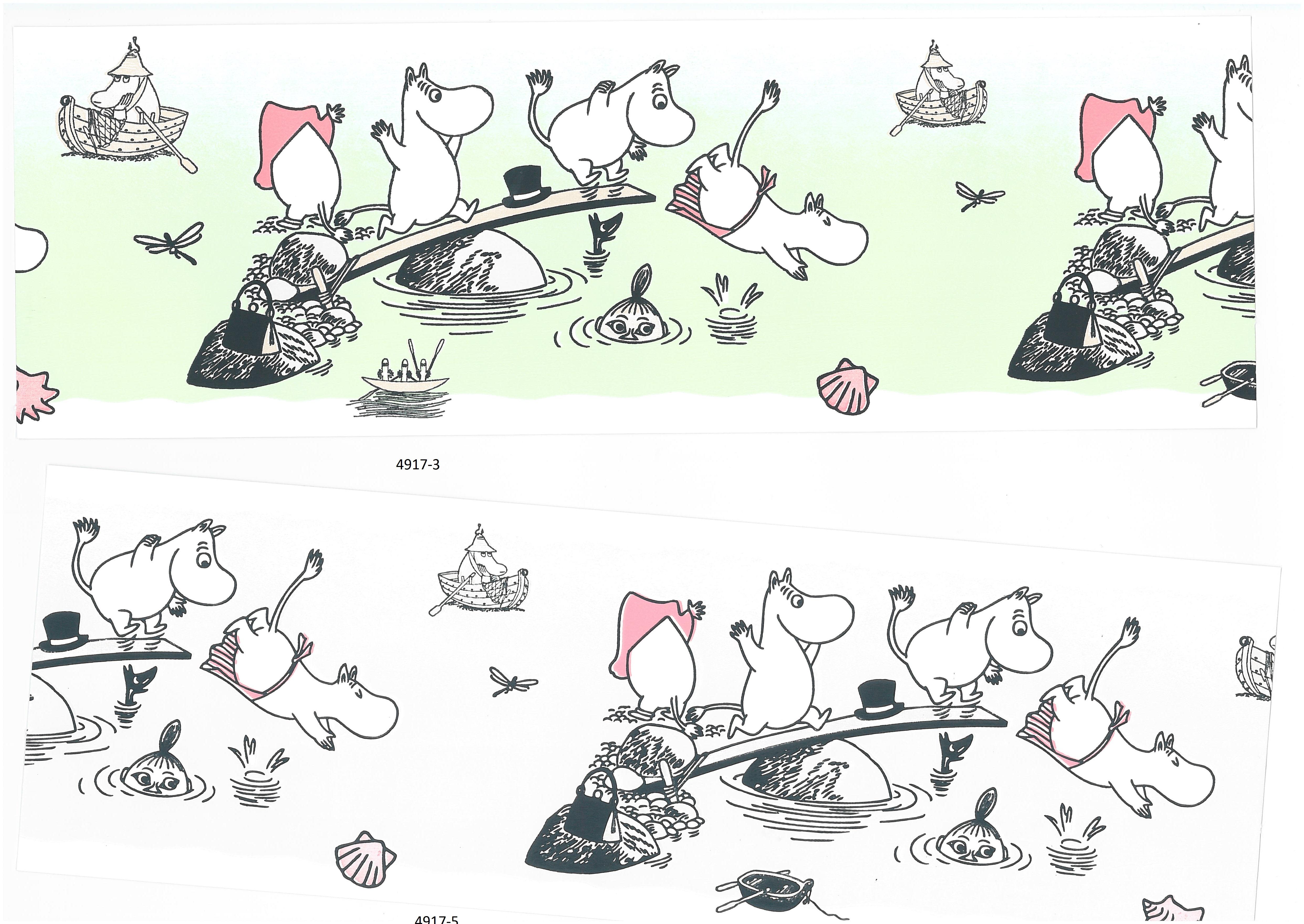 Moomin borders 4917-3 , 4917-5