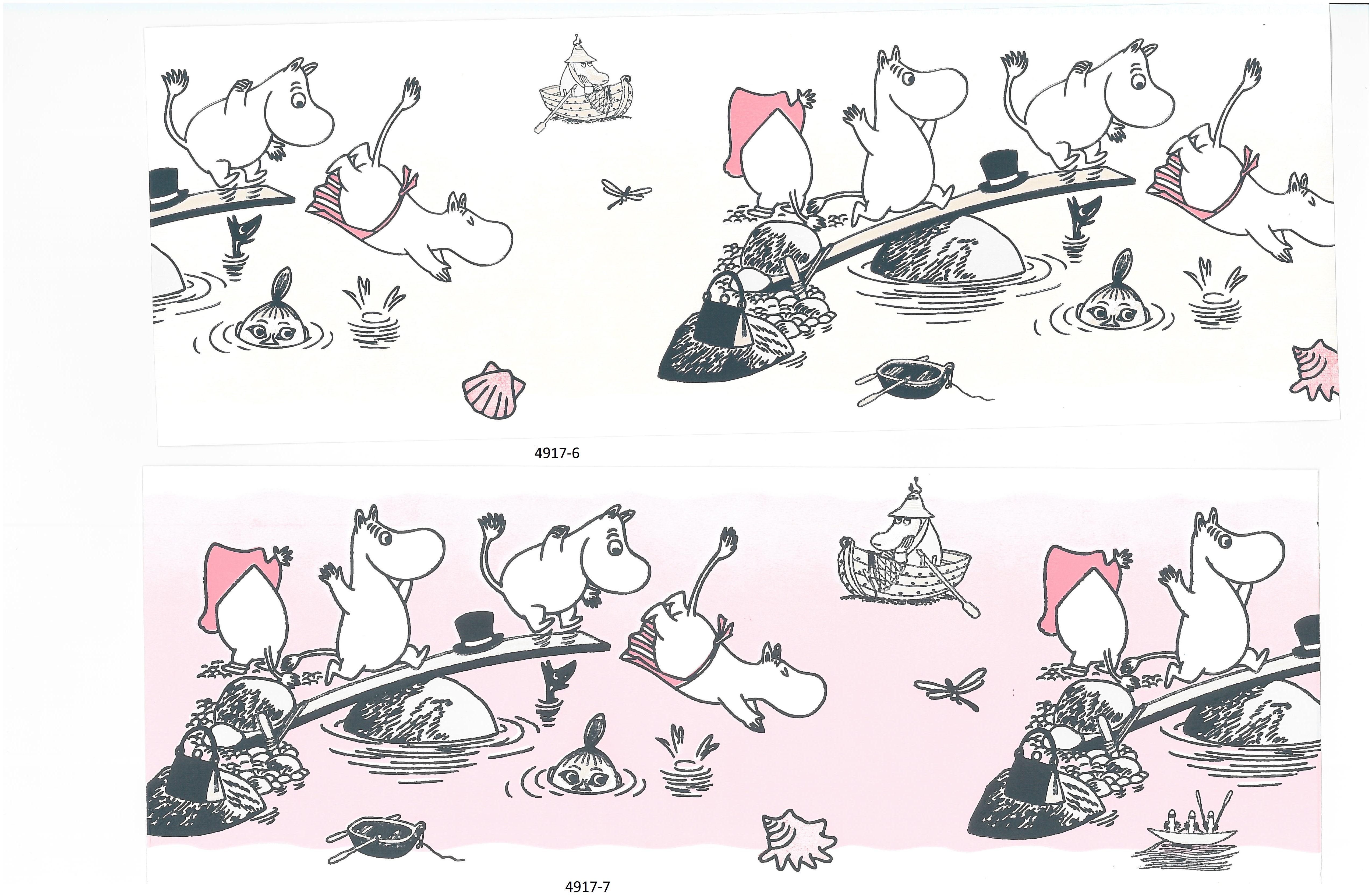 Moomin borders 4917-6 , 4917-7