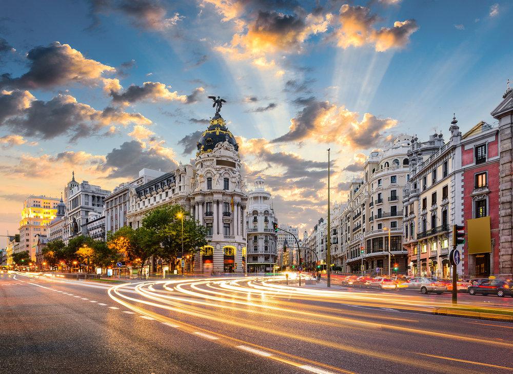 Madrid Spain on Gran Via
